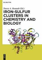 Iron-sulfur clusters in chemistry and biology