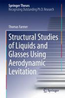 Structural studies of liquids and glasses using aerodynamic levitation