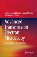 Advanced transmission electron microscopy : applications to nanomaterials cover