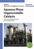 Aqueous-phase organometallic catalysis [electronic resource] : concepts and applications