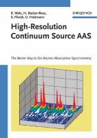 High-resolution continuum source AAS [electronic resource] : the better way to do atomic absorption spectrometry