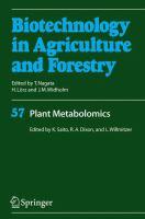 Plant metabolomics [electronic resource]