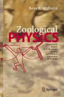 Zoological physics [electronic resource] : quantitative models of body design, actions, and physical limitations of animals