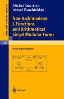 Non-Archimedean L-functions and arithmetical Siegel modular forms [electronic resource]