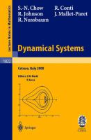 Dynamical systems [electronic resource] : lectures given at the C.I.M.E. summer school held in Cetraro, Italy, June 19-26, 2000