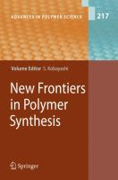 New frontiers in polymer synthesis [electronic resource]