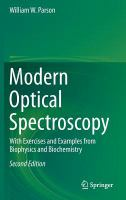 Modern optical spectroscopy : with exercises and examples from biophysics and biochemistry cover