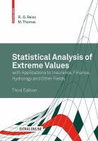 Statistical analysis of extreme values [electronic resource] : with applications to insurance, finance, hydrology and other fields