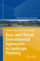 Basic and clinical environmental approaches in landscape planning cover
