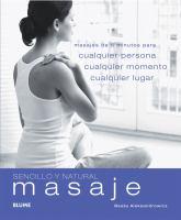 Sencillo y natural masaje