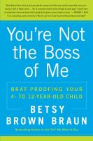 cover of You're Not the Boss of Me