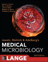 Jawetz, Melnick &amp; Adelberg's medical microbiology.