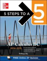 5 Steps to a 5 AP Calculus BC, 2014-2015 Edition [electronic resource]