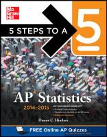 5 Steps to a 5 AP Statistics, 2014-2015 Edition [electronic resource]