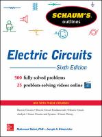 Schaum's Outline of Electric Circuits, 6th Edition [electronic resource]