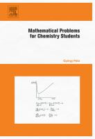 Mathematical Problems for Chemistry Students [electronic resource].