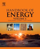 Handbook of energy. Volume I, Diagrams, charts, and tables [electronic resource]