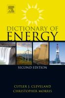 Dictionary of energy [electronic resource]
