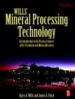 Wills' mineral processing technology [electronic resource] : an introduction to the practical aspects of ore treatment and mineral recovery