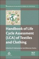 Handbook of life cycle assessment (LCA) of textitles and clothing [electronic resource]