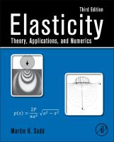 Elasticity [electronic resource] : theory, applications, and numerics