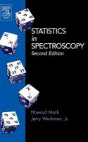 Statistics in spectroscopy [electronic resource]