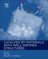 Catalysis by materials with well-defined structures [electronic resource]