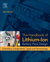 The handbook of lithium-ion battery pack design [electronic resource] : chemistry, components, types and terminology