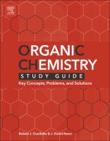 Organic chemistry study guide [electronic resource] : key concepts, problems, and solutions