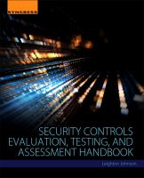 Security Controls Evaluation, Testing and Assessment Handbook [electronic resource]