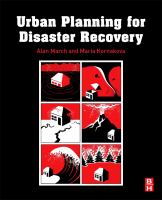 Urban planning for disaster recovery./ cover image