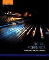 Digital Forensics [electronic resource]: Threatscape and Best Practices