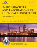 Basic principles and calculations in chemical engineering [electronic resource].