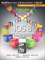 iOS 8 for programmers : an app-driven approach with Swift. Volume 1