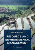Resource and environmental management /