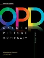OPD, Oxford Picture Dictionary: English-Spanish, Inglés-Español