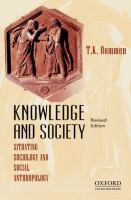 Knowledge and society : situating sociology and social anthropology