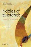 Riddles of existence : a guided tour of metaphysics