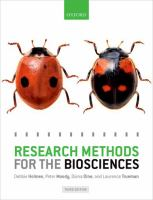 Research methods for the biosciences /