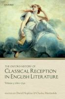 The Oxford history of classical reception in English literature.