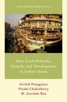 State level reforms and growth and development in Indian States