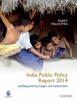 India public policy report, 2014 : tackling poverty, hunger and malnutrition