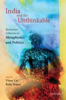 India and the unthinkable : backwaters collective on metaphysics and politics I /