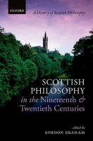 Scottish philosophy in the nineteenth and twentieth centuries