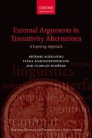 External arguments in transitivity alternations : a layering approach