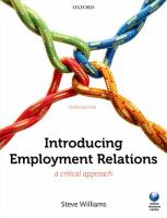 Introducing employment relations : a critical approach