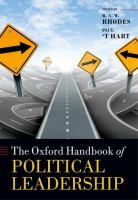 The Oxford handbook of political leadership