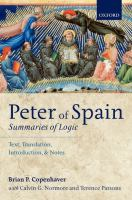 Peter of Spain : Summaries of logic : text, translation, introduction, and notes