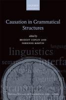 Causation in grammatical structures