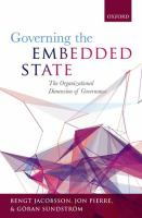 Governing the embedded state : the organizational dimension of governance